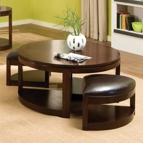 Round Coffee Table With Chairs.Round Coffee Table With Stools Ideas On Foter