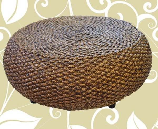 Merveilleux Round Rattan Coffee Table 1