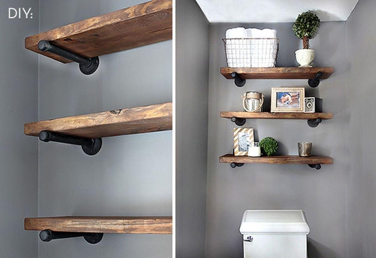 Floor Three Shelf Toilet Restroom Bathroom Corner Cabinet Unit Wall Hanging