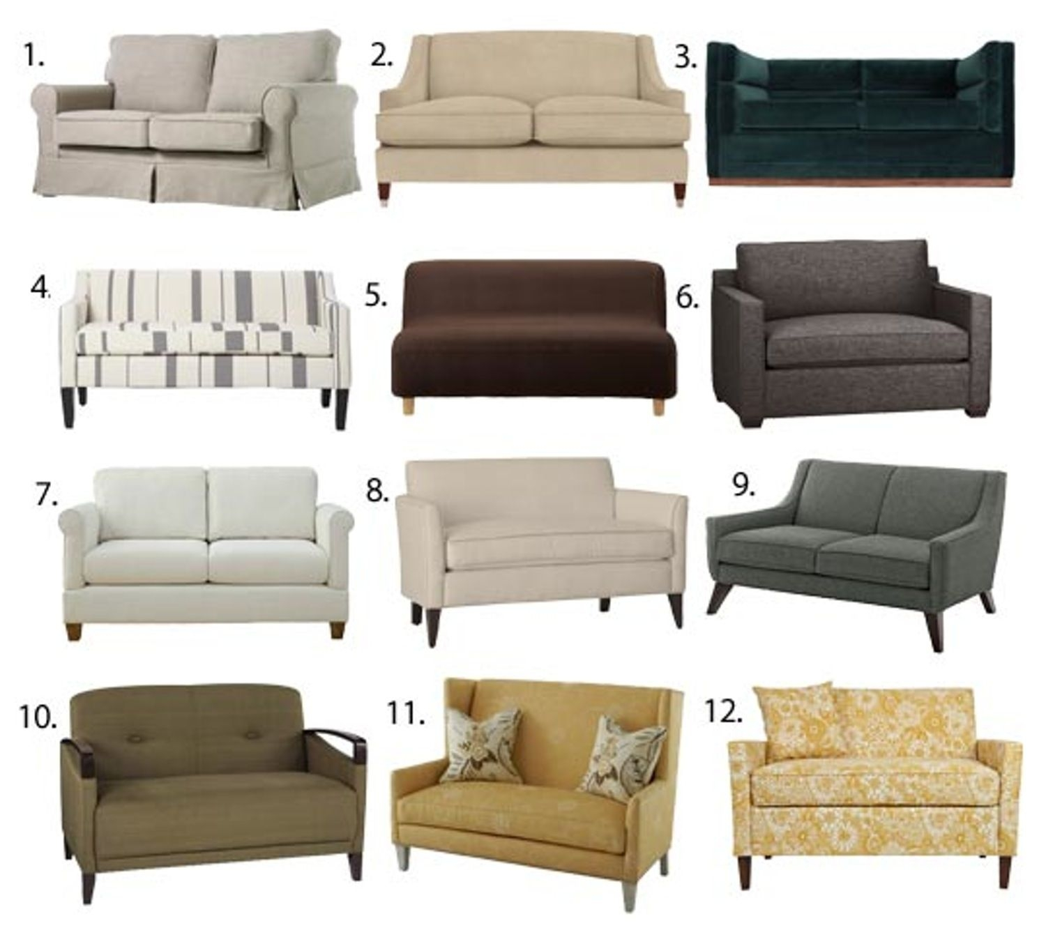 Small Space Seating Sofas Loveseats Under 60 Inches Wide 1