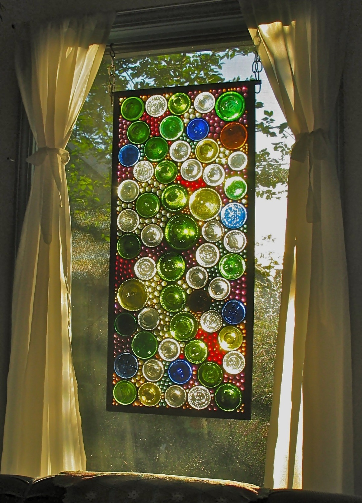 Stained glass wall art 1