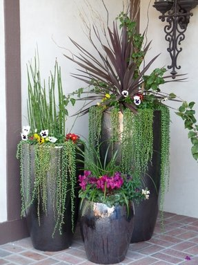 Tall flower pots 19