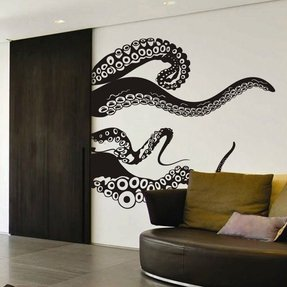 Tentacles Wall Decal Kraken Octopus Tentacles Wall Sticker Sea Animal Wall Decal Mural Home Art Decor