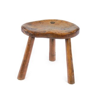 This robert thompson milking stool includes a provenance back to