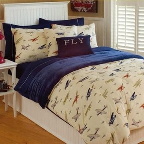 Thro vintage airplanes bedding collection 1