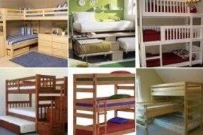 100 triple bunk beds for sale foter. Black Bedroom Furniture Sets. Home Design Ideas
