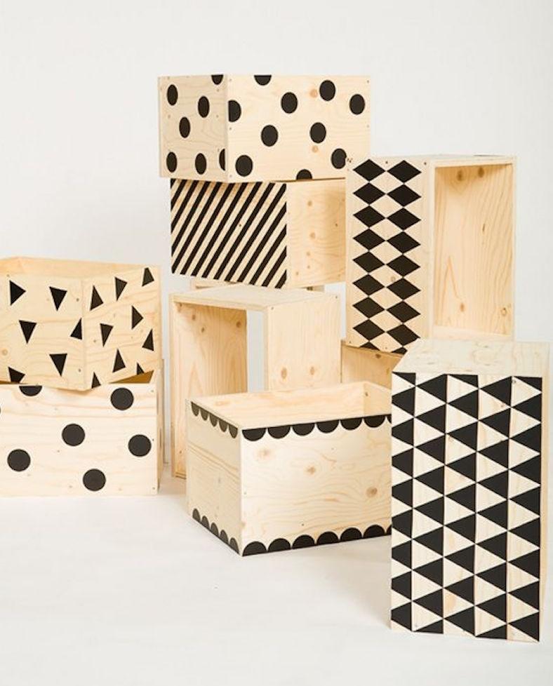 Attrayant Wooden Storage Cubes