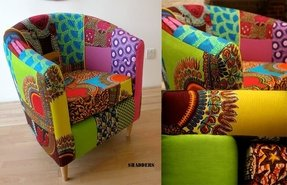African print fabric chair from shadders
