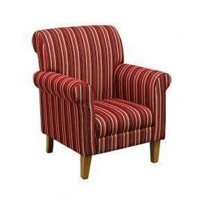 Arlington Armchair Red Stripe