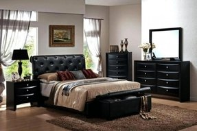 White Leather Bedroom Furniture Black Suite Queen L
