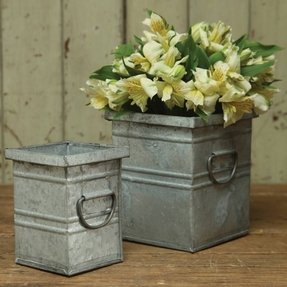 Cheap metal planters