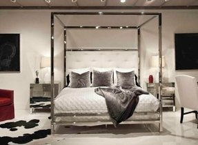 Chrome bedroom furniture 44