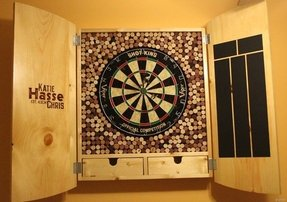 Custom Dart Board Cabinet 3