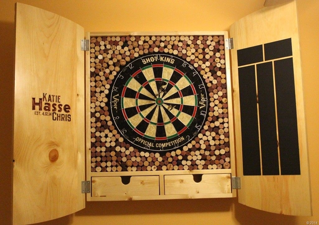 Attrayant Custom Dart Board Cabinet 3