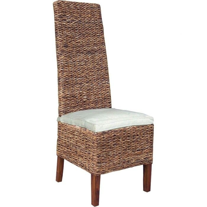 Charming High Back Rattan Dining Chairs