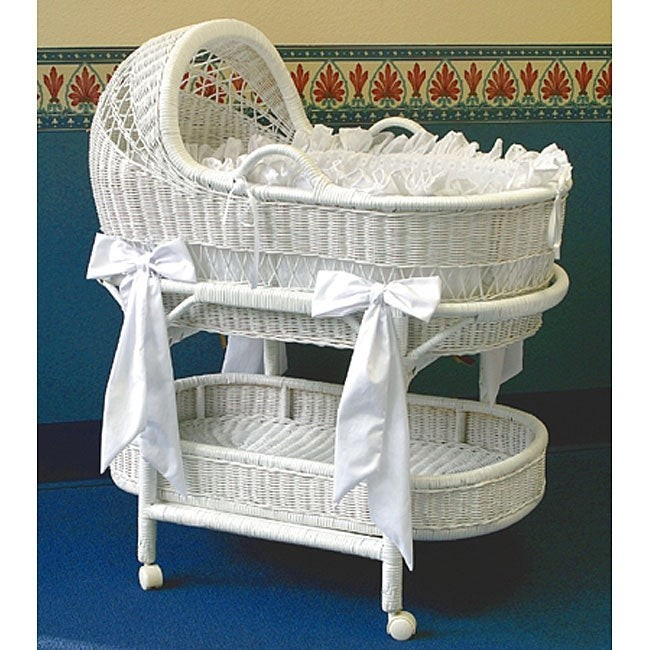Exceptionnel La Baby Wicker Bassinet And Bedding Set