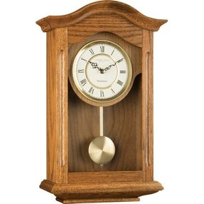 Oak wall clocks foter light oak pendulum chiming wall clock by london clock company aloadofball Choice Image