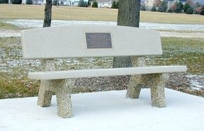 Memorial concrete benches