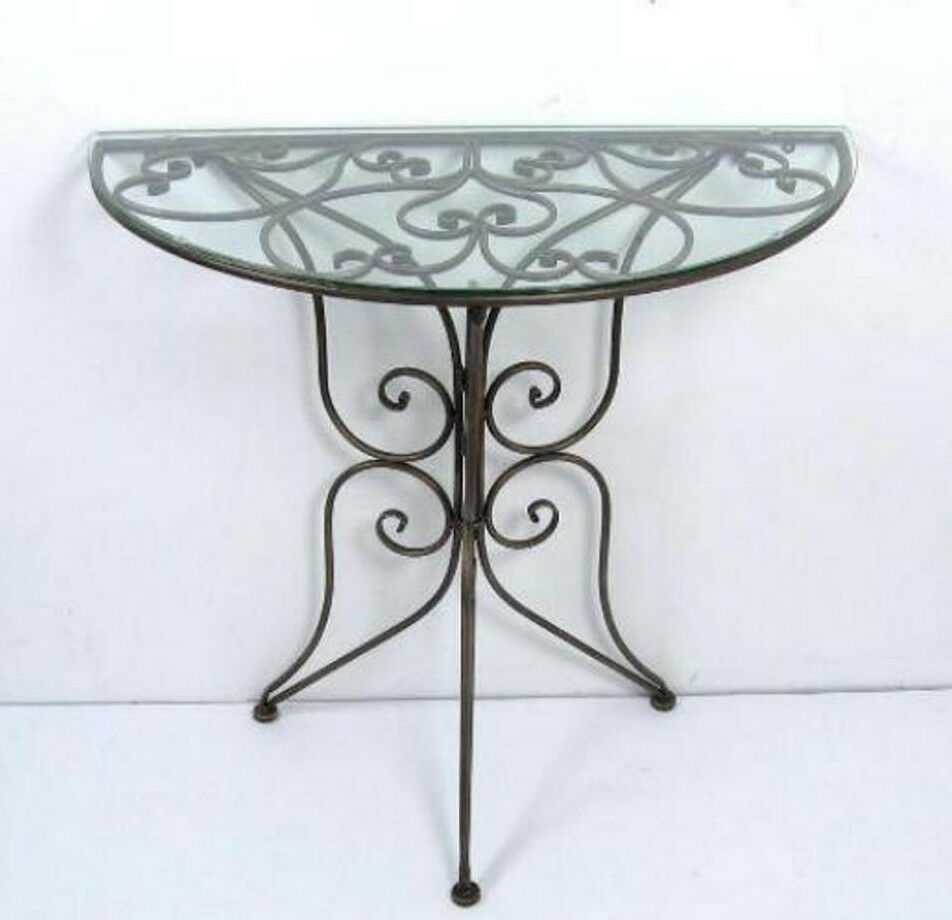 Superieur Metal Sofa Table With Glass Top