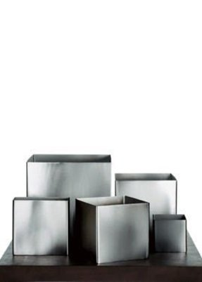 Metal square planter
