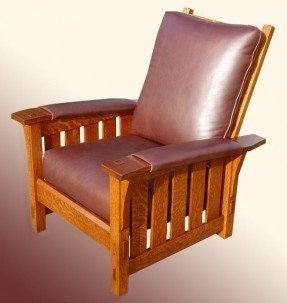 Superieur Mission Style Leather Chair