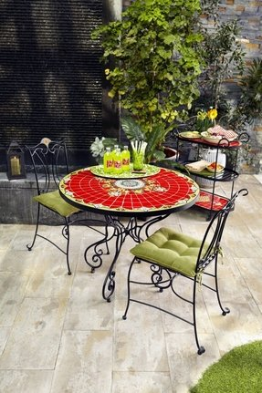 Mosaic Bistro Table Set Foter - Commercial outdoor bistro table and chairs