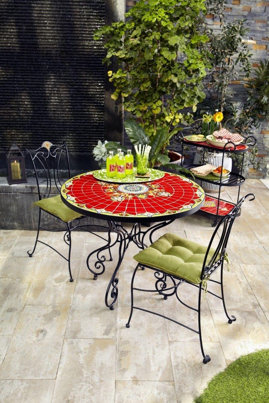 Superbe Mosaic Bistro Table Set   Ideas On Foter