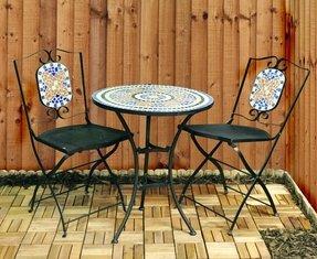 Mosaic Bistro Table Set - Foter