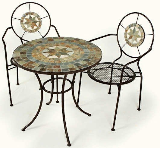 Mosaic Top Bistro Table