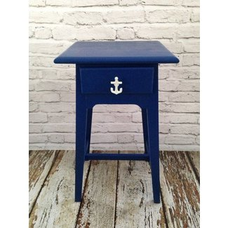 Nautical beach end table refinished