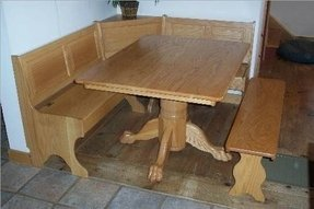 Oak kitchen bench