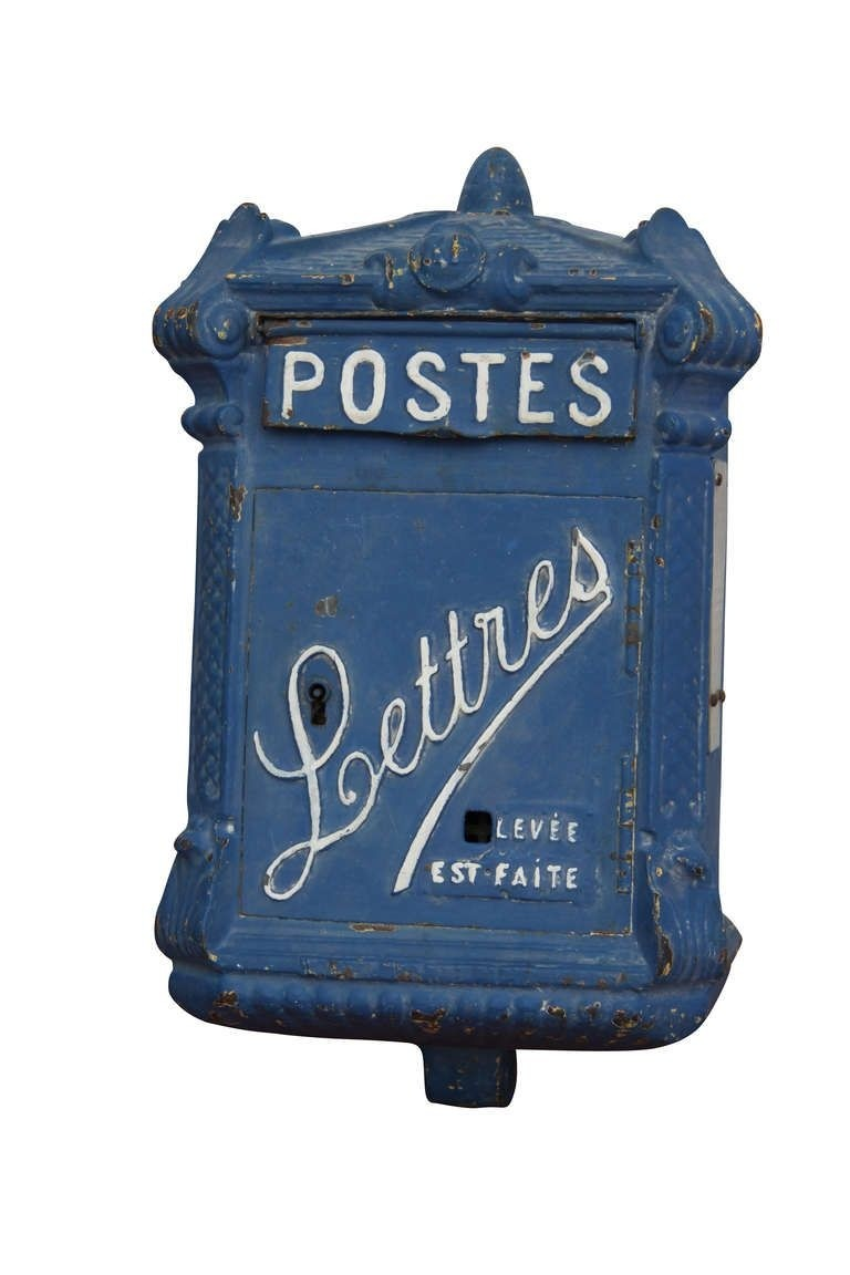 Old parisian mailboxes patinated cast iron