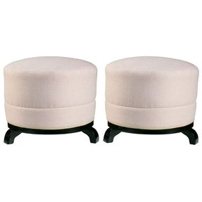Pair of french art deco period ottomans