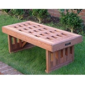 Redwood benches