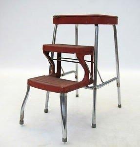 Retro Kitchen Steps Folding 1950s Kitsch Vintage Stool Step Ladder