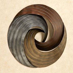 Round metal wall art 17