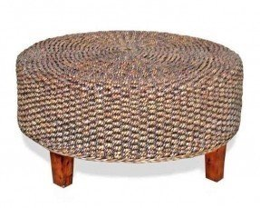 Round Woven Coffee Table 1