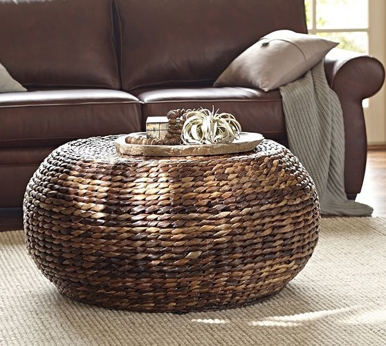 Charmant Round Woven Coffee Table   Ideas On Foter