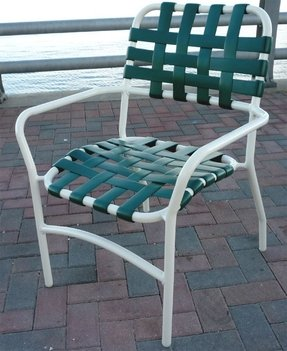 Vinyl patio chairs