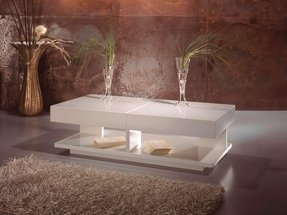 White Gloss Coffee Table Round 1