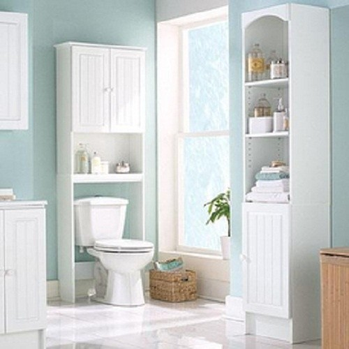 Superb White Over The Toilet Storage 14