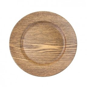 Wood charger plates 1