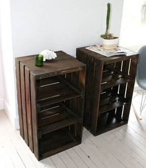 Wood crate handmade table furniture
