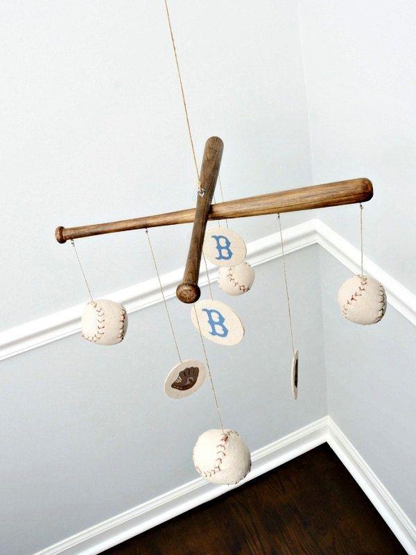 Baseball Sports Nursery Ceiling Mobile Mobiles Handmade
