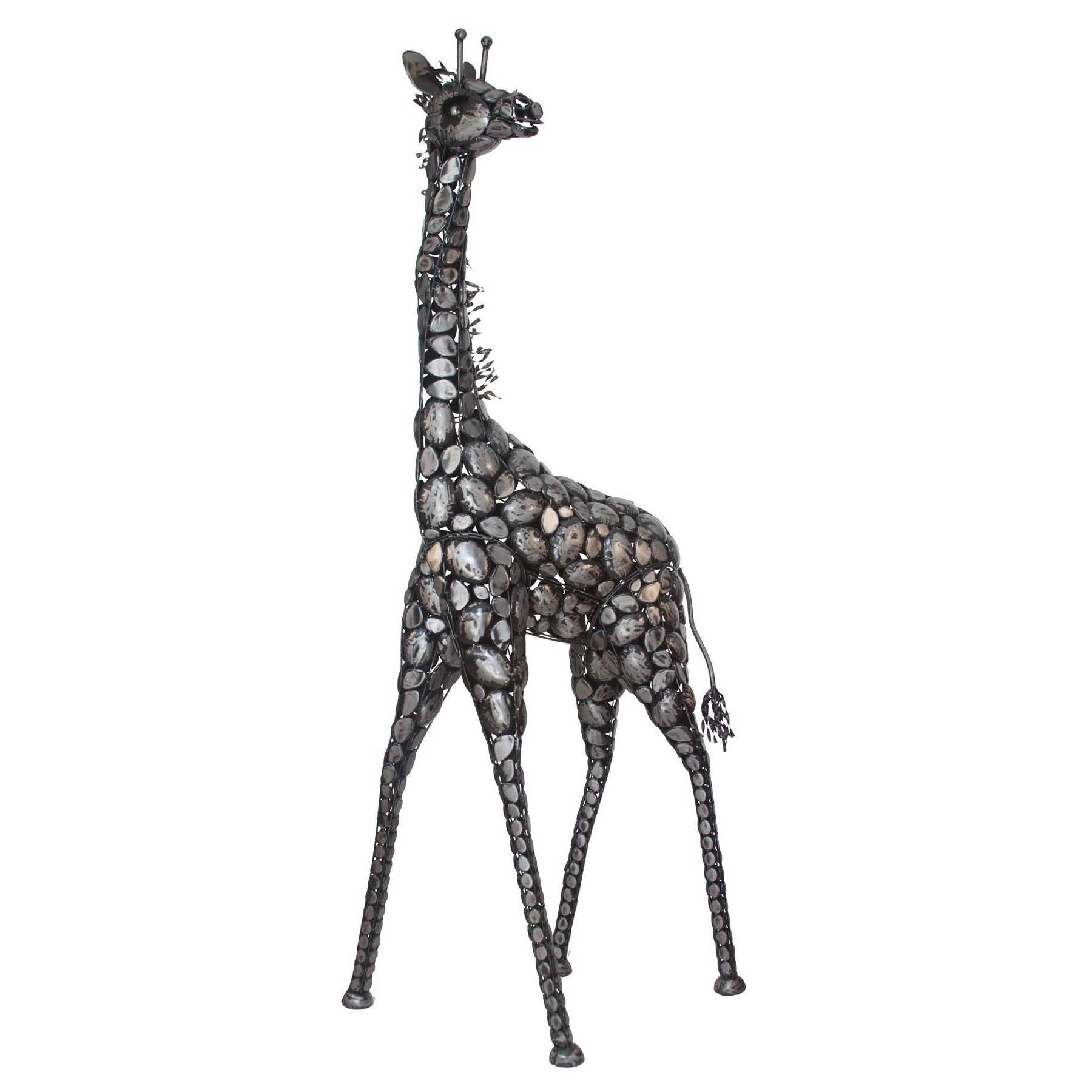 Beautiful iron 7 ft tall metal giraffe statue for home