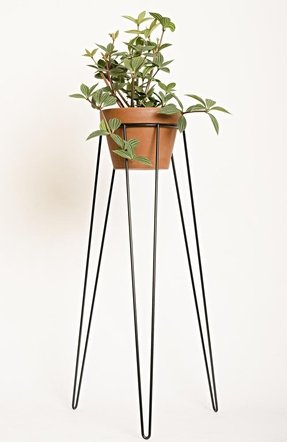 Black plant stand mid century inspired