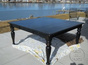 Black square dining table