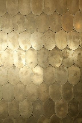 Brass discs materials interiordesign jpwarreninteriors