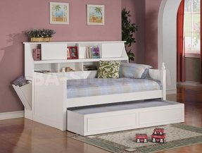 Coaster Daisy Bookcase Wood Daybed With Under Bed Trundle In