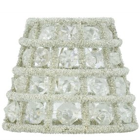 Crystal chandelier lamp shade mini clip on shade candle cover
